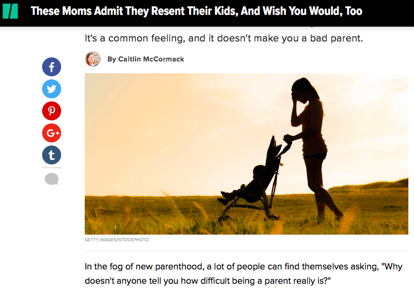 These Moms Admit They Resent Their Kids, And Wish You Would, Too