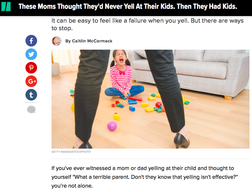 These Moms Thought They'd Never Yell At Their Kids. Then They Had Kids