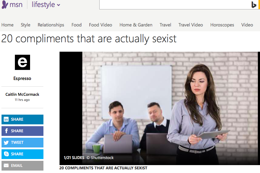 20 compliments that are actually sexist