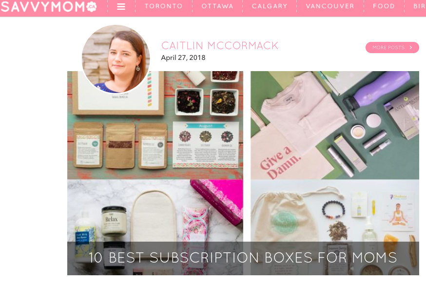 10 Best Subscription Boxes for Moms