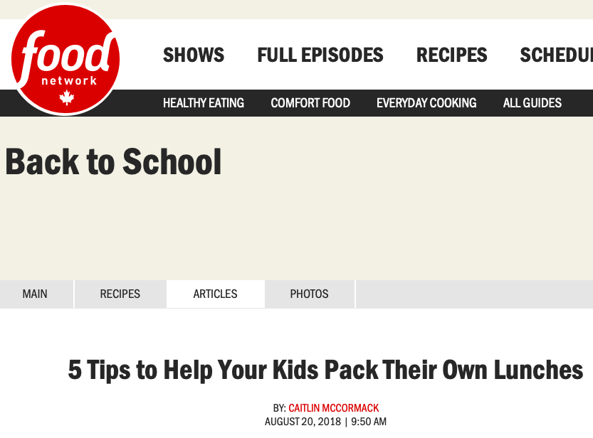 5 Tips to Help Your Kids Pack Their Own Lunches