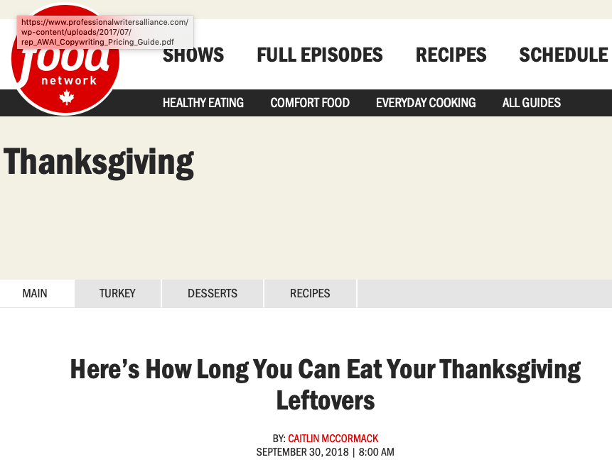 Here's How Long You Can Eat Your Thanksgiving Leftovers