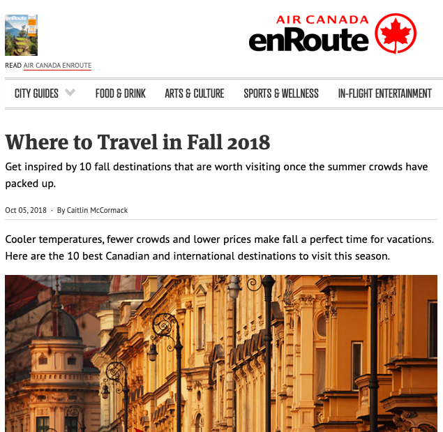 Where to Travel in Fall 2018