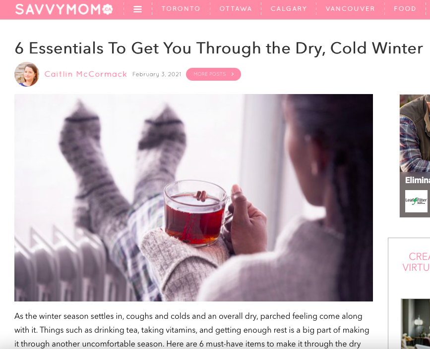 6 Essentials To Get You Through the Dry, Cold Winter