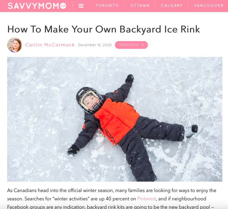 How To Make Your Own Backyard Ice Rink