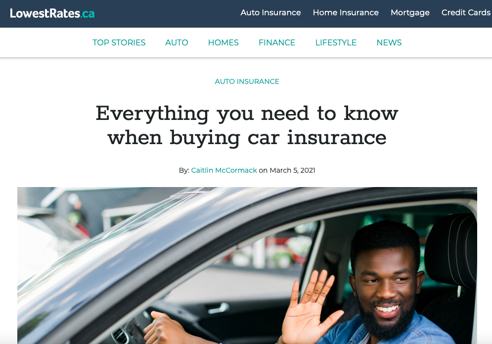 Everything you need to know when buying car insurance