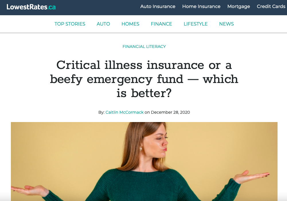 Critical illness insurance or a beefy emergency fund — which is better?