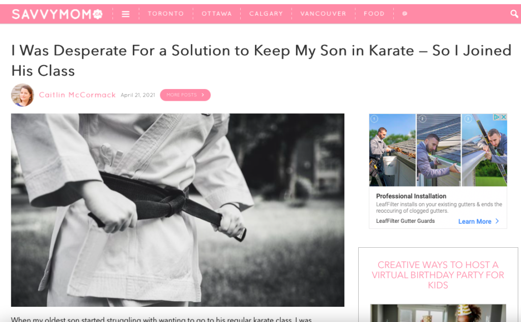 I Was Desperate For a Solution to Keep My Son in Karate — So I Joined His Class